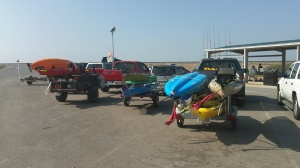 All the kayaks which were present