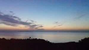Holly Beach before sunrise