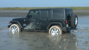 Thats a jeep and its stuck!